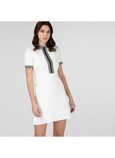 Lacoste Kadın Kısa Kollu Elbise EF0102.02B Beyaz
